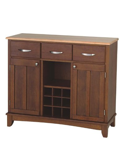 Home Styles 5100-0071 Buffet of Buffets Natural Wood with Server, Cherry Finish, 41-3/4-Inch