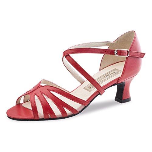 Werner Kern Ladies Scarpe Da Ballo Meggy 5.5 In Pelle Rossa