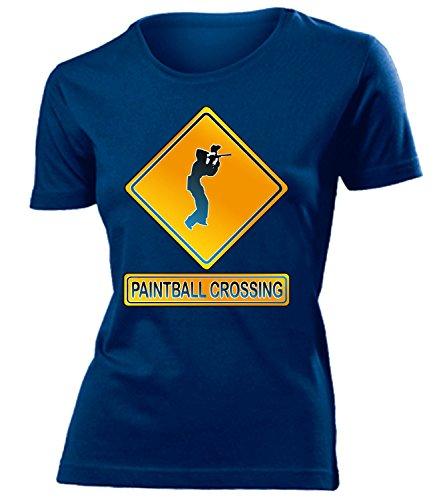 PAINTBALL CROSSING mujer camiseta Tamaño S to XXL varios colores marina / Blanco