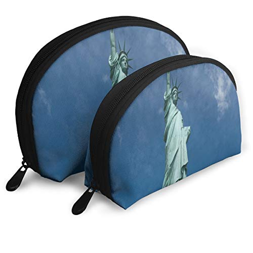 Makeup Bag Statue Of Liberty National Monument Portable Shell Makeup Case For Mother Halloween Gift Pack - 2 -