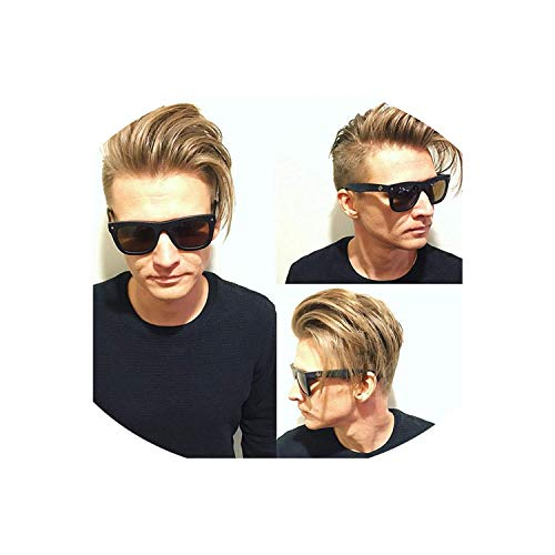 Full Lace Hairpieces for Men Human Hair 10X8 Inch Men's Toupee Swiss Lace Hair Replacement System Lace Base Men Wigs,8X10 6Inches,110% 1B40 ()