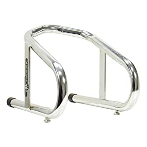 "Pit Posse 11-017 Chrome Motorcycle Removable 6 1/2"" Wide Wheel Chock Nest Tire Trailer Holder- 5 Year Warranty"