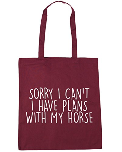 I 42cm With Beach Horse Sorry litres Burgundy Can't Bag x38cm 10 HippoWarehouse Have Tote Shopping Plans Gym My I qg6wSt