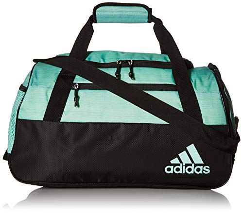 - adidas Squad Duffel Bag, Clear Mint Two Tone/Black, One Size