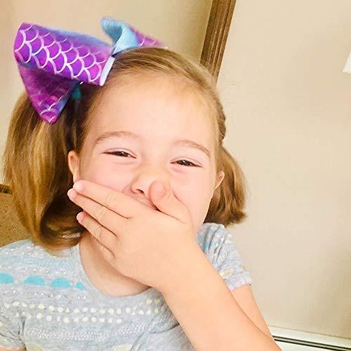 JOJO Siwa Bows Hair Clips Unicorn Ribbon Grosgrain Hair Barrettes Accessories for Girls Toddler Kids (6pcs)