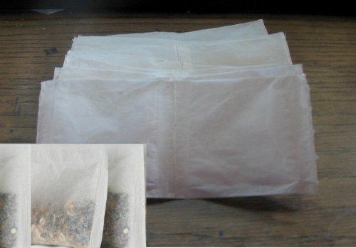 "Rina's Garden Heat Sealable Empty Tea Filter Bags - 2.5"" x 2.75"" - 200 count Bulk"