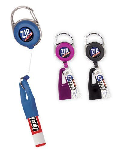 Zip Stick Retractable Lip Balm Holder (Single- Assorted Colors) - Zip Holder