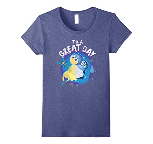 Womens Disney Pixar Inside Out Great Day Graphic T-Shirt Medium Heather (Inside Out T-shirt)