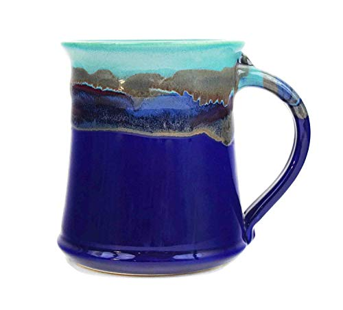 (Clay In Motion Handmade Ceramic Medium Mug 16oz - Mystic Waters (1))