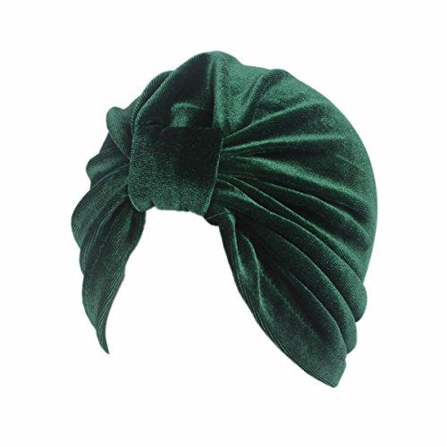 - Qhome Turban Indian Caps Celeb Style Neon Headband Vintage Double Stretch Velvet Turban Head Wrap