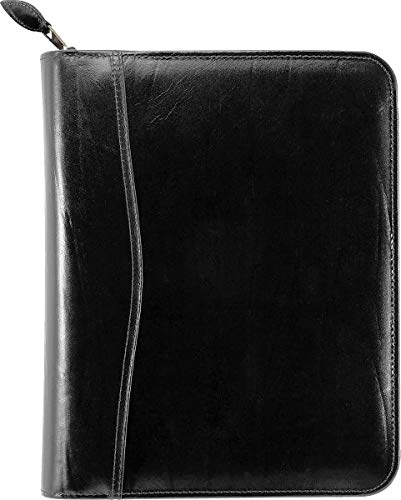 Day-Timer Western Coach Leather Zippered 1.5 inch Planner Cover Desk Size - by Day-Timer