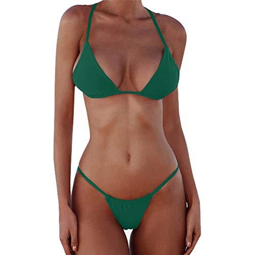 XUNYU Bikini Set Bandage Solid Brazilian Swimwear Two Pieces Swimsuit Padded Thong Bathing Suits ()