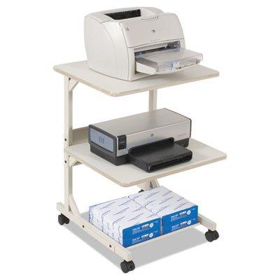 Balt 23701 Dual Laser Printer Stand, Three-Shelf, 24w x 24d x 33h, Gray