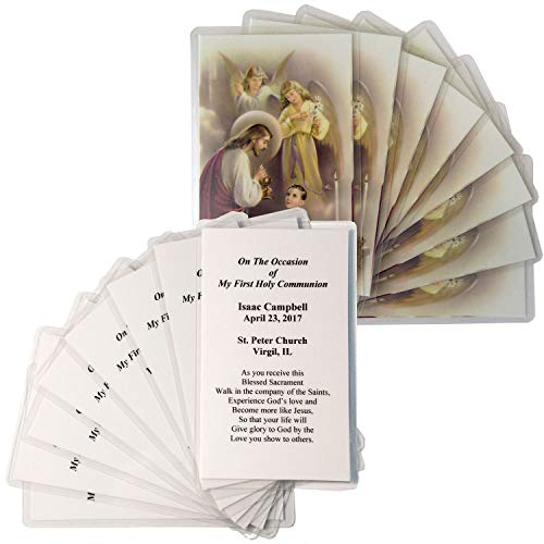 16 Personalized Boys First Communion Holy Cards
