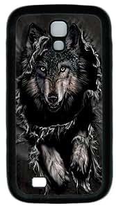 Breakthrough Wolf TPU Silicone Case Cover for Samsung Galaxy S4/I9500 ¡§C Black wangjiang maoyi