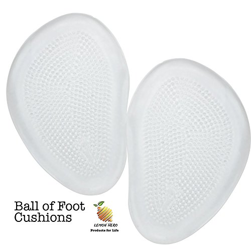 Original 2 Piece Foot Pads Set - Ball of Foot Cushions for Forefoot and Metatarsal Pain Relief. For Men and Women. By Lemon Hero.