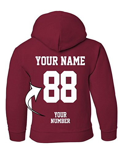 Custom Kids Hoodie (Custom Hoodies for Youth - DESIGN YOUR OWN JERSEY - Pullover Hooded Team Sweaters)