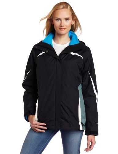 Columbia Womens Argon Ice Parka, Black/ Metal/ Sea Salt, Medium (Columbia Bugaboo 3 In 1 Jacket Womens)