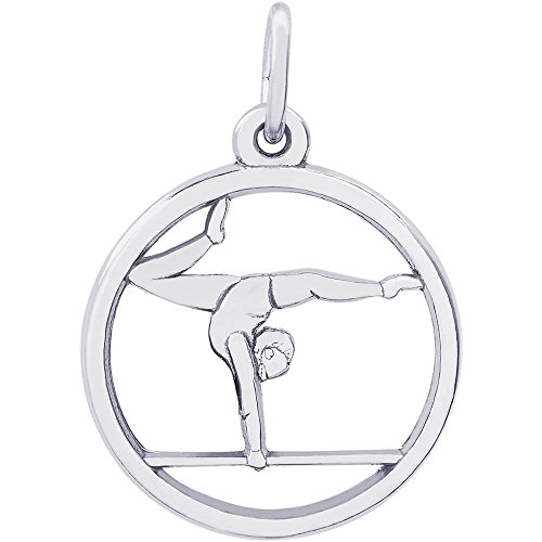 Rembrandt Charms Sterling Silver Gymnast on Balance Beam Charm (18 x 18 mm)