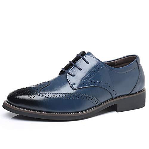 XINBONG Zapatos de Vestir para Hombre Zapatos de ala Casual de Negocios de Oxford