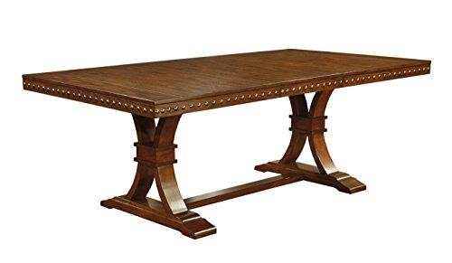 Furniture of America Castile Transitional Dining Table, Dark