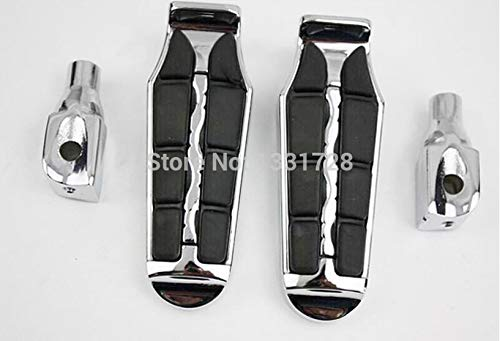 Frames & Fittings Chrome Wing Foot Pegs Rests for 2004-2006 Suzuki Marauder 1600/Boulevard M95(Rear)