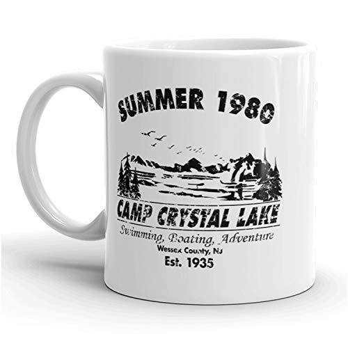 Summer 1980 Camp Crystal Lake Mug Funny Halloween Coffee Cup - 11oz -