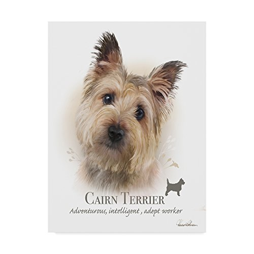Cairn Dog Art Terrier (Trademark Fine Art Cairn Terrier by Howard Robinson, 18x24-Inch)