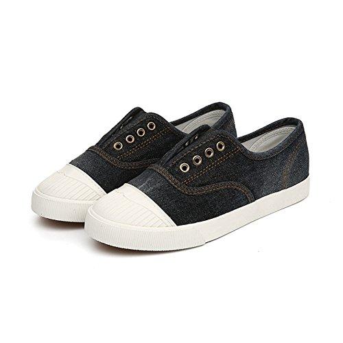 lona de baja casuales zapatos A zapatos La planos zapatos para un Sra pedal ayudar anqx0AwpFY