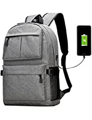 ABLE College Laptop Backpack Travel Dypack Usb Port Fit 15.6 Inch Water Resistant