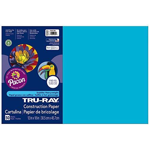 Tru-Ray Heavyweight Construction Paper, Atomic Blue,  12