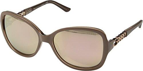 GUESS Women's Acetate Square Sunglasses, 72G, 59 - Glasses Sun Guess