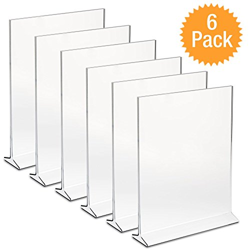DisplayPros X Acrylic Sign Holder Clear Plastic Table Menu Holder - Plastic table tent holders