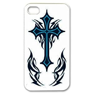 Case for IPhone 4/4s, Tribal Cross Tattoo Case for IPhone 4/4s, Sexyass White