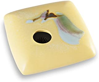 product image for Georgetown Pottery Square Ikebana Flower Vase, Yellow Wave
