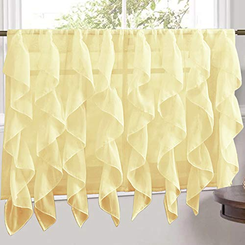 Sweet Home Collection Veritcal Kitchen Curtain Sheer Cascadi