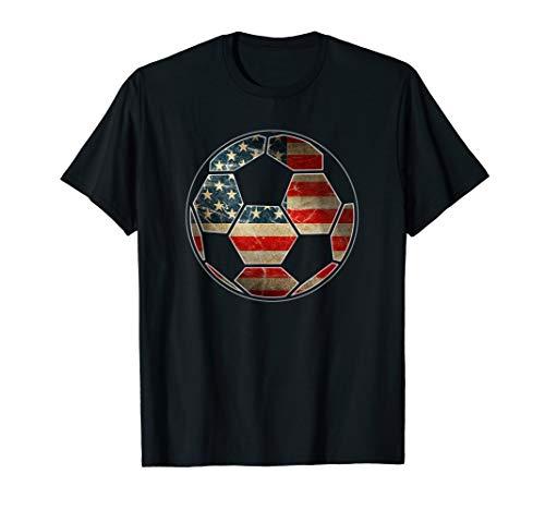 7a8d0f04890 American Flag on Soccer Ball T-Shirt - Soccer Ball Flag Tee