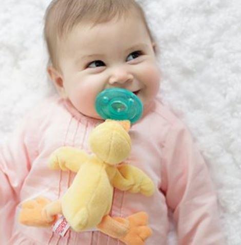 Baby Yellow Duck Wubbanub Infant Pacifier
