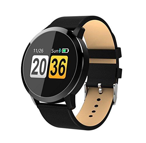 Smart Bracelet Heart Rate Blood Lipid Detector Sports Running Pedometer Fitness Tracker Smart Reminder Bluetooth Smart Watch,Black by LJXAN