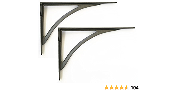 Par de tamaño grande hierro Ironbridge soportes para estantes - 25,4 cm/25 cm