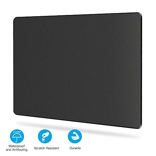 Romatpretty Hard-Gaming-Mouse-Pad,Flat Mouse-Mat, Non-Slip Rubber Base Mousepad,Fast-Accurate-Control, Smooth-Plastic-Surface with Enhance-Precision for Laptop, Computer & PC, Black
