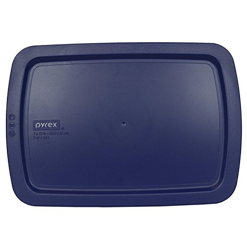 Pyrex C-233-PC Easy Grab Blue Rectangle Plastic Lid for 9