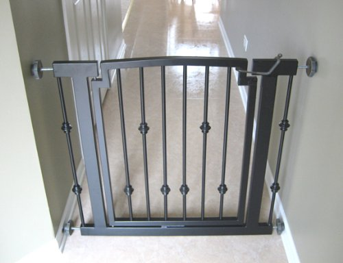 Emperor Rings Dog Gate Black Expandable To 40 Indoor