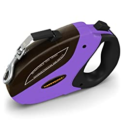Security Pro Retractable Dog Leash - 16 Foot Long Safe Heavy Duty No Tangle Pet Lead with Easy Instant Retraction - Comfortable Design Gives Full Control of Your Dog and More Freedom During Walks
