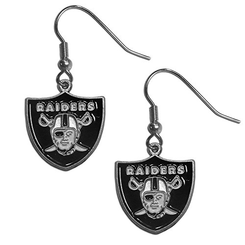 NFL Team Logo Dangle Earrings (Oakland Raiders)