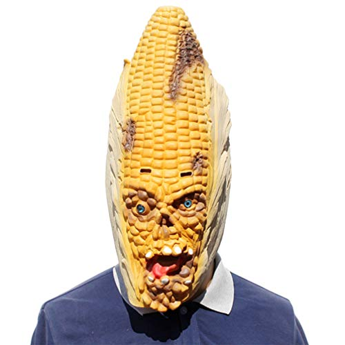 Novelty Creepy Scary Horror Halloween Cosplay Party Costume Latex Head Mask - Corn Modelling Mask]()