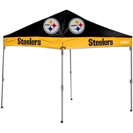 NFL 10' x 10' Canopy, Pittsburgh - Multicolor (Coleman Pop Up Cover compare prices)