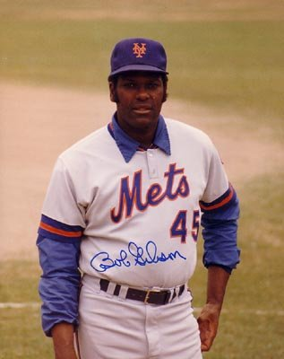 Autograph Warehouse 10670 Bob Gibson Autographed 8 x 10 Photo New York Mets Coach - St Louis Cardinals Hall Of Famer