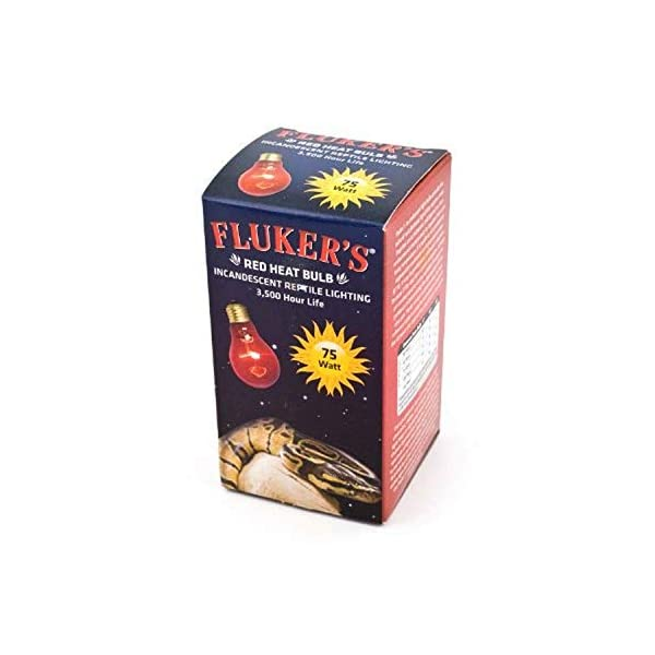 Fluker's 22800 Red Heat Bulbs for Reptiles, 40-watt 1