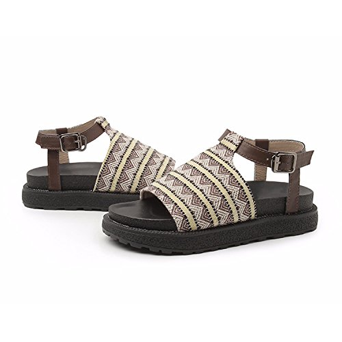 de Frestepvie Femmes Chaussures Ville Sandales Plates 4aaZIq